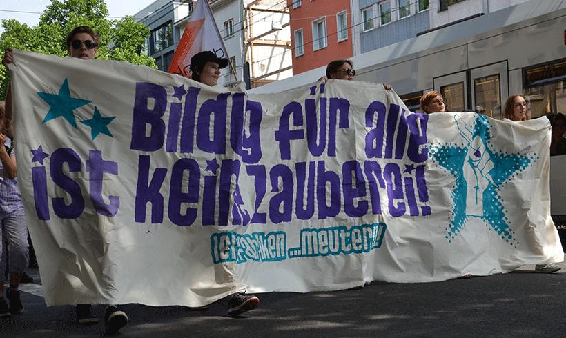 """""""Lernfabriken meutern!"""" – Bildungsproteste gegen Unterfinanzierung und Selektionsdruck"""