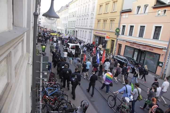 Demonstrationen rund um die faschistische