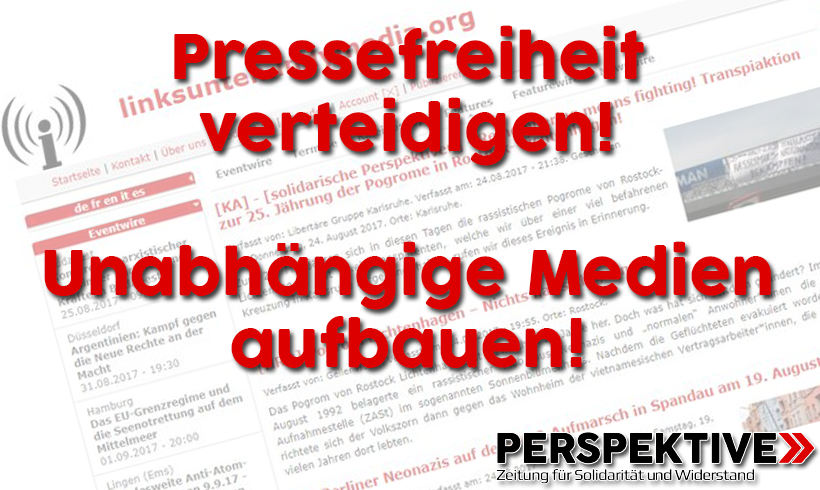Beschuldigte klagen gegen Indymedia-Verbot