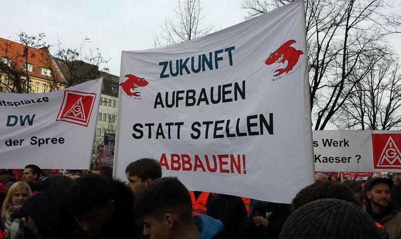 Berlin: Demonstration gegen Jobabbau bei Siemens