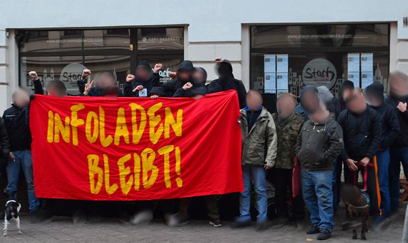Aktionen gegen Verdrängung in Magdeburg