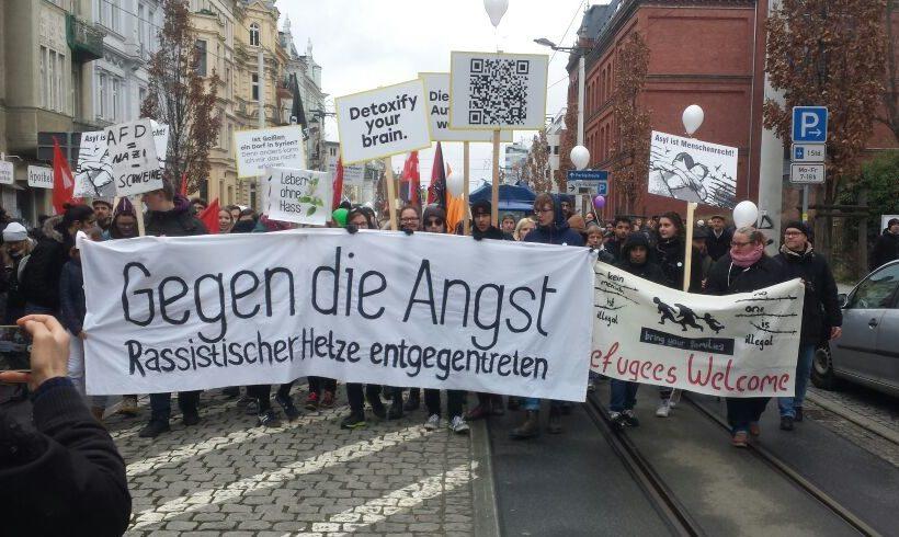 """Cottbus: """"Leben ohne Hass"""" – Geflüchtete rufen zu friedlichem Zusammenleben auf"""
