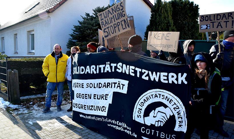 Solidaritätsnetzwerk Cottbus aktiv gegen Zwangsräumung