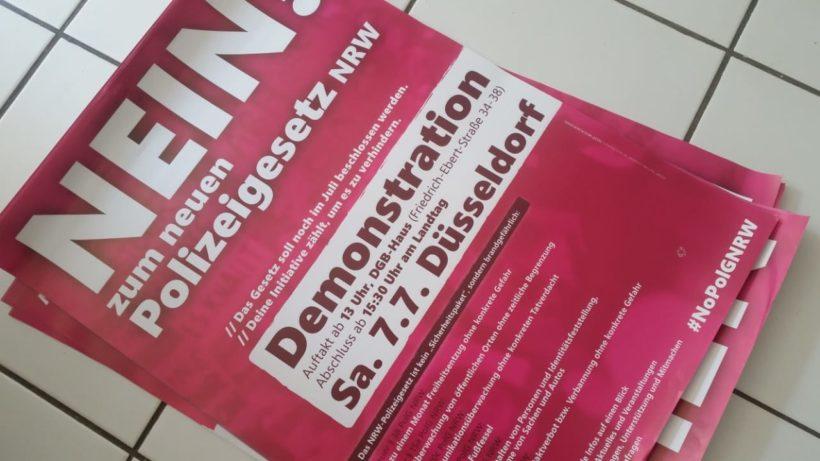 100 AktivistInnen planen Protest gegen Polizeigesetz in NRW