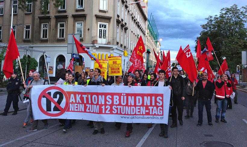 """""""Seid's deppert!?"""" - Großdemonstration in Wien"""