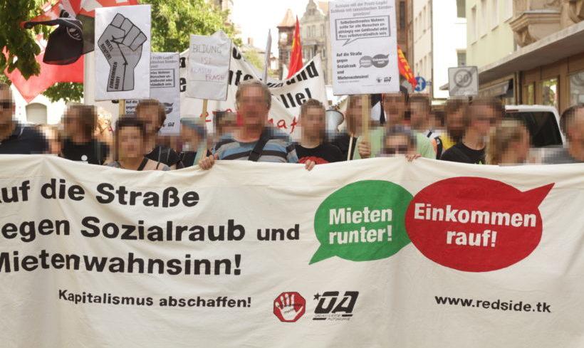 Demonstration in Nürnberg: