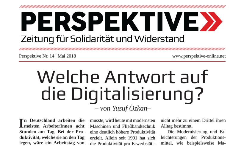 Perspektive Nr. 14 / Mai 2018 erschienen!