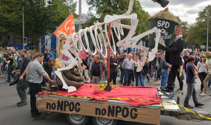 Protest in Hannover gegen Polizeigesetz
